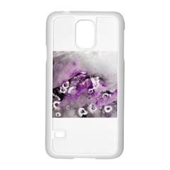 Shades Of Purple Samsung Galaxy S5 Case (white) by timelessartoncanvas