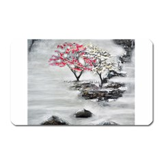 Mountains, Trees And Fog Magnet (rectangular) by timelessartoncanvas