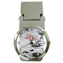 Mountains, Trees And Fog Money Clip Watches