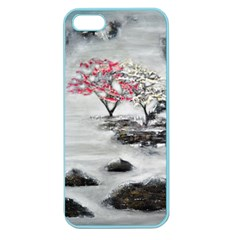 Mountains, Trees And Fog Apple Seamless Iphone 5 Case (color)