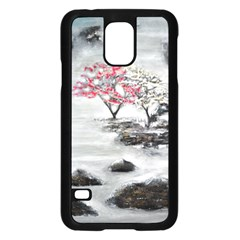 Mountains, Trees And Fog Samsung Galaxy S5 Case (black)