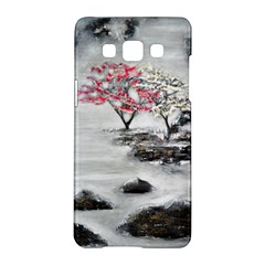Mountains, Trees And Fog Samsung Galaxy A5 Hardshell Case  by timelessartoncanvas
