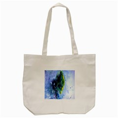 Bright Yellow And Blue Abstract Tote Bag (cream)