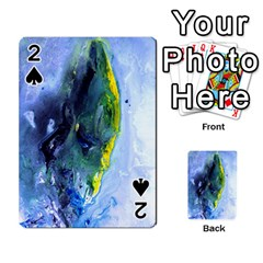 Bright Yellow And Blue Abstract Playing Cards 54 Designs