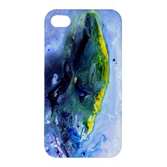 Bright Yellow And Blue Abstract Apple Iphone 4/4s Hardshell Case by timelessartoncanvas