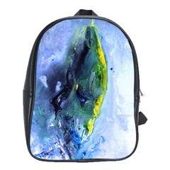 Bright Yellow And Blue Abstract School Bags (xl)  by timelessartoncanvas