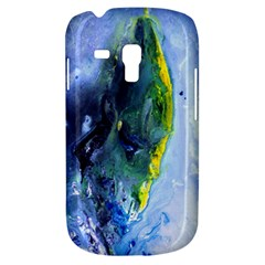 Bright Yellow And Blue Abstract Samsung Galaxy S3 Mini I8190 Hardshell Case by timelessartoncanvas
