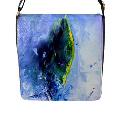 Bright Yellow And Blue Abstract Flap Messenger Bag (l)  by timelessartoncanvas