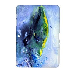 Bright Yellow And Blue Abstract Samsung Galaxy Tab 2 (10 1 ) P5100 Hardshell Case  by timelessartoncanvas