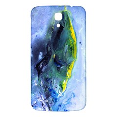 Bright Yellow And Blue Abstract Samsung Galaxy Mega I9200 Hardshell Back Case by timelessartoncanvas