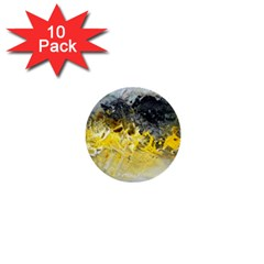 Bright Yellow Abstract 1  Mini Buttons (10 Pack)  by timelessartoncanvas