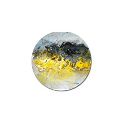 Bright Yellow Abstract Golf Ball Marker (10 Pack)