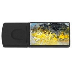 Bright Yellow Abstract Usb Flash Drive Rectangular (4 Gb)  by timelessartoncanvas