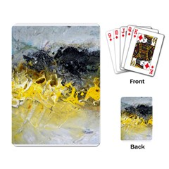 Bright Yellow Abstract Playing Card by timelessartoncanvas
