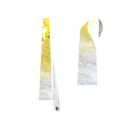 Bright Yellow Abstract Neckties (two Side)  by timelessartoncanvas