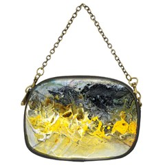 Bright Yellow Abstract Chain Purses (two Sides)  by timelessartoncanvas