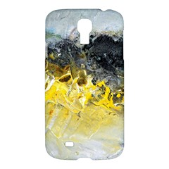 Bright Yellow Abstract Samsung Galaxy S4 I9500/i9505 Hardshell Case by timelessartoncanvas