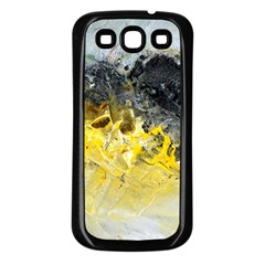 Bright Yellow Abstract Samsung Galaxy S3 Back Case (black) by timelessartoncanvas