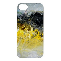 Bright Yellow Abstract Apple Iphone 5s Hardshell Case by timelessartoncanvas