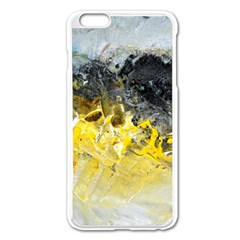 Bright Yellow Abstract Apple Iphone 6 Plus Enamel White Case by timelessartoncanvas