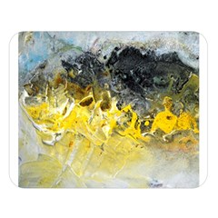 Bright Yellow Abstract Double Sided Flano Blanket (large)