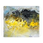 Bright Yellow Abstract Double Sided Flano Blanket (Large)  80 x60  Blanket Front
