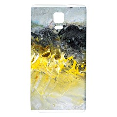 Bright Yellow Abstract Galaxy Note 4 Back Case by timelessartoncanvas
