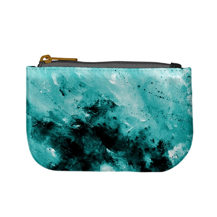 Turquoise Abstract Mini Coin Purses
