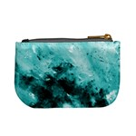 Turquoise Abstract Mini Coin Purses Back