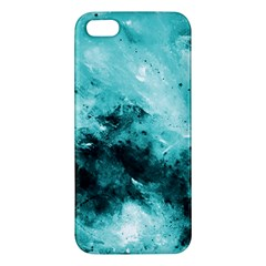 Turquoise Abstract Apple Iphone 5 Premium Hardshell Case