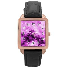 Bright Pink Abstract Rose Gold Watches by timelessartoncanvas