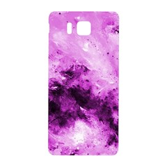 Bright Pink Abstract Samsung Galaxy Alpha Hardshell Back Case by timelessartoncanvas