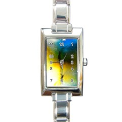 Watercolor Abstract Rectangle Italian Charm Watches