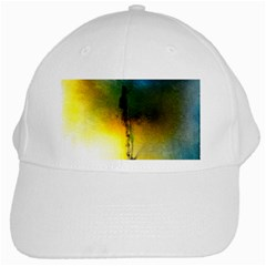 Watercolor Abstract White Cap