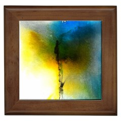 Watercolor Abstract Framed Tiles