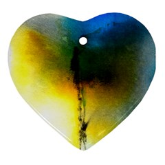 Watercolor Abstract Ornament (Heart)