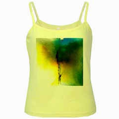 Watercolor Abstract Yellow Spaghetti Tanks