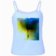 Watercolor Abstract Baby Blue Spaghetti Tanks