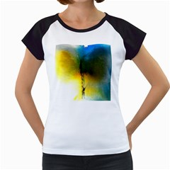 Watercolor Abstract Women s Cap Sleeve T