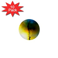 Watercolor Abstract 1  Mini Buttons (10 pack)