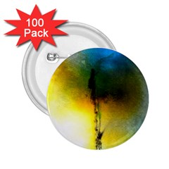 Watercolor Abstract 2.25  Buttons (100 pack)