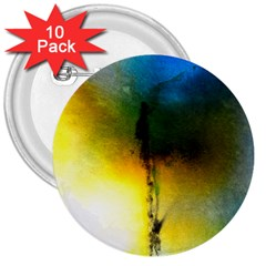 Watercolor Abstract 3  Buttons (10 pack)