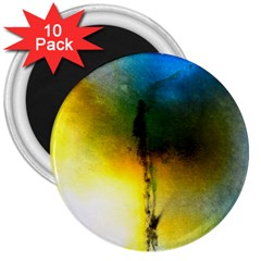Watercolor Abstract 3  Magnets (10 pack)