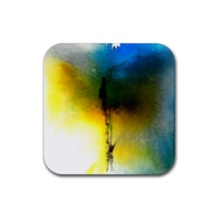 Watercolor Abstract Rubber Square Coaster (4 Pack)  by timelessartoncanvas