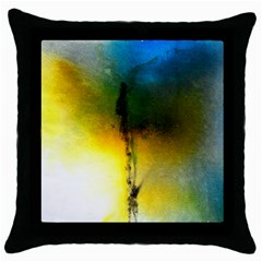 Watercolor Abstract Throw Pillow Cases (Black)