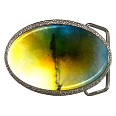 Watercolor Abstract Belt Buckles