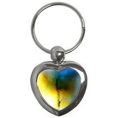 Watercolor Abstract Key Chains (Heart)
