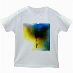 Watercolor Abstract Kids White T-Shirts