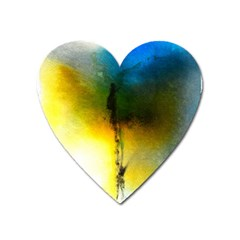 Watercolor Abstract Heart Magnet