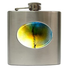 Watercolor Abstract Hip Flask (6 oz)